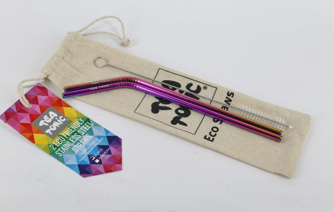 Rainbow Eco Straws - 2 pack