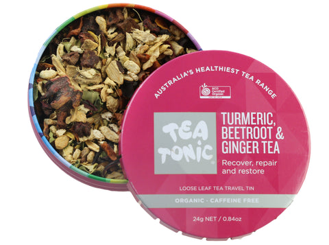 Turmeric, Beetroot & Ginger Tea Loose Leaf Travel Tin
