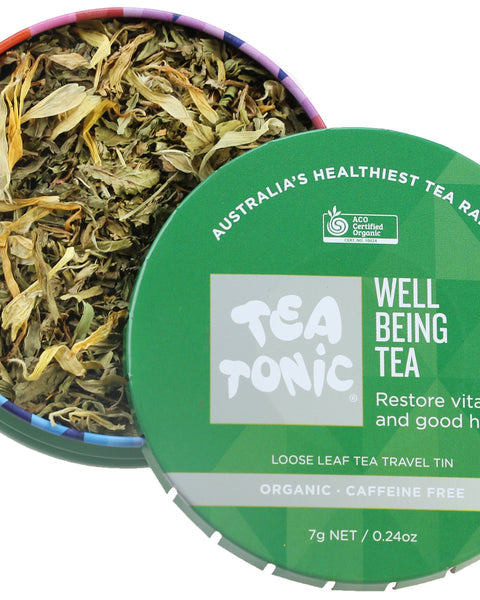 Well Being Tea Loose Leaf Travel Tin