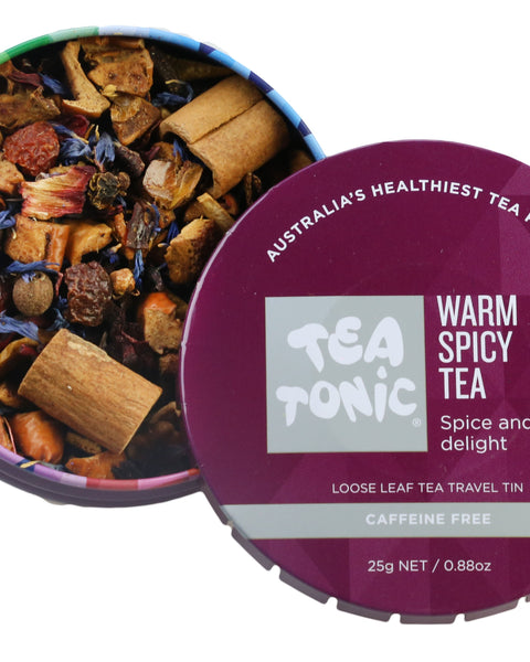 Warm Spicy Tea Loose Leaf Travel Tin