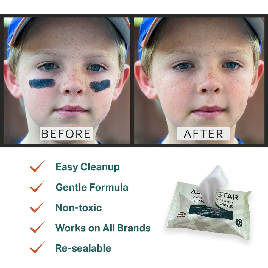 face paint and makeup remover wipes features