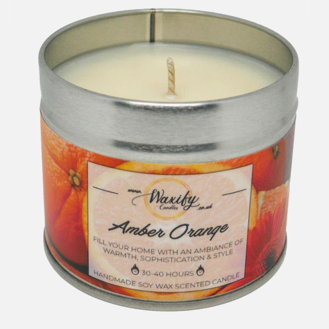 Amber Orange Waxify Candles
