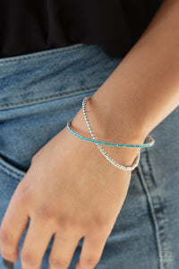 Chicly Crisscrossed - Blue