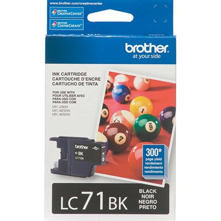 BROTHER LC71 Ink Jet Cartridge black 223388 (630-LC71BKS)