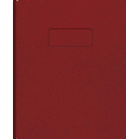 A9 Notebook Ruled, red