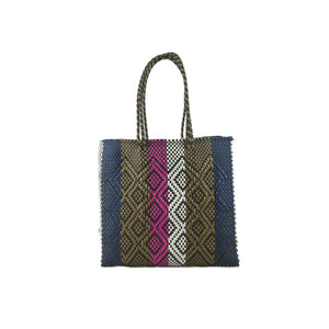 Shopping bag de fibra sintetica rayas color