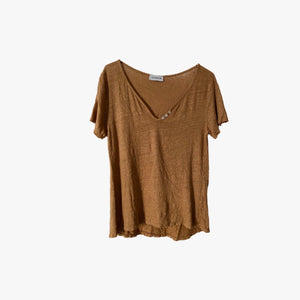 Camiseta LINUS LE BUTTON MARRON