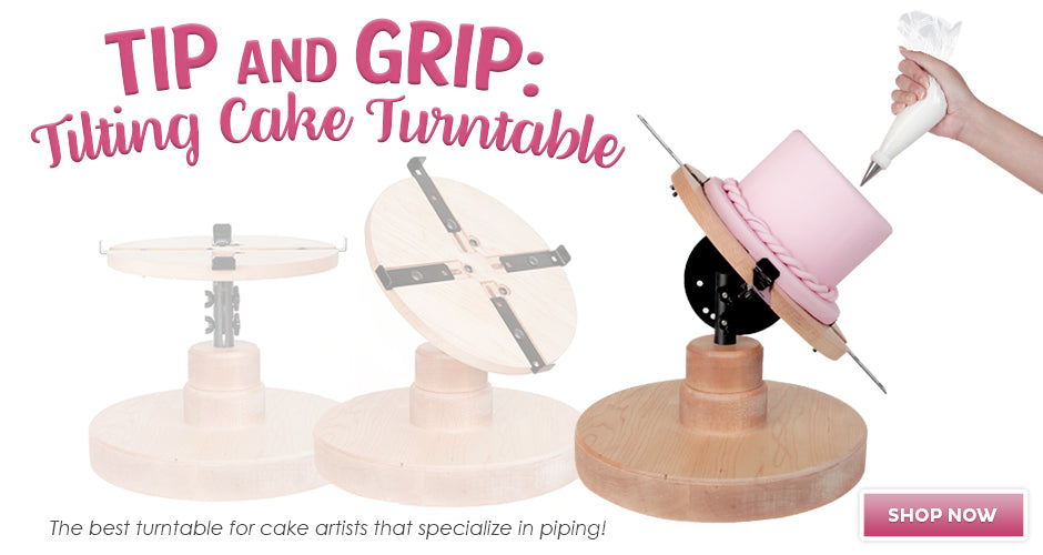 Tip and Grip Cake Turntable | CaljavaOnline.com