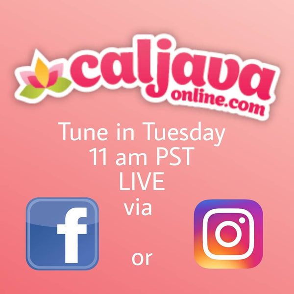 Caljava's Instagram Live and Facebook Live