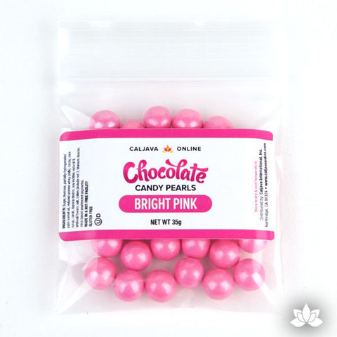 Chocolate Candy Pearls - Bright Pink 9.52mm