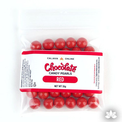 Chocolate Candy Pearls - Red 9.52mm