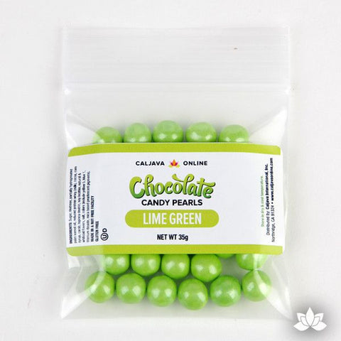 Chocolate Candy Pearls - Shimmer Green 9.52mm