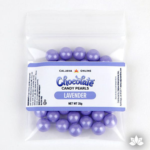 Chocolate Candy Pearls - Lavender Shimmer 9.52mm