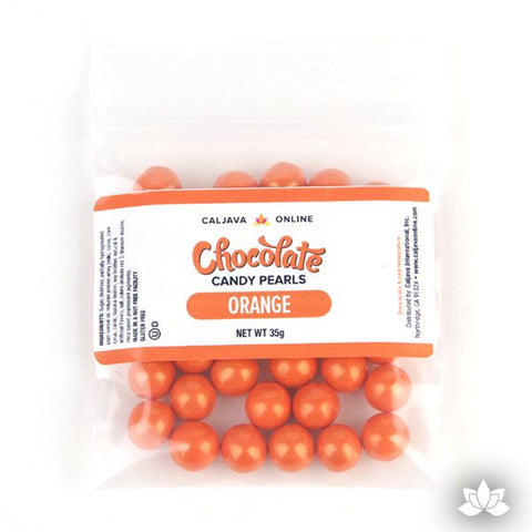 Chocolate Candy Pearls - Orange 9.52mm