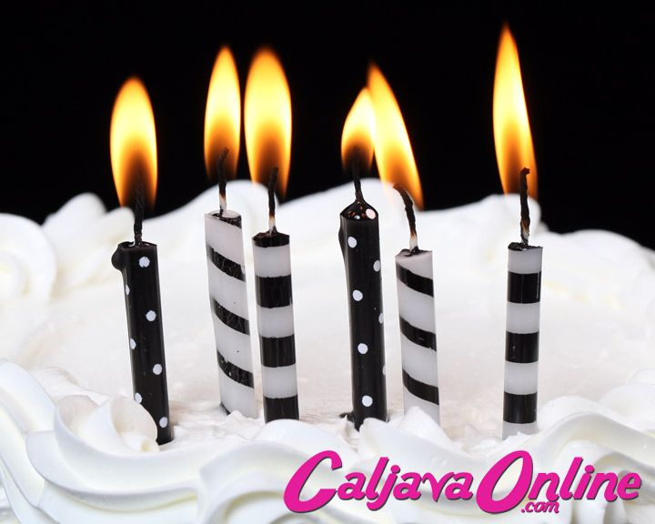 Black & White Striped & Dotted Candles