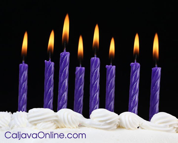 Classic Purple Candles