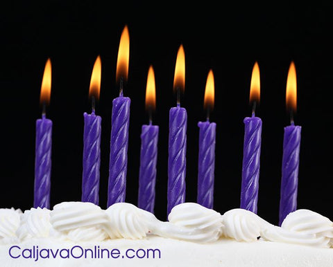 Classic Purple Candles Caljavaonline