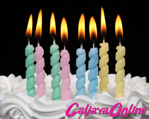 Pastel Twister Candles