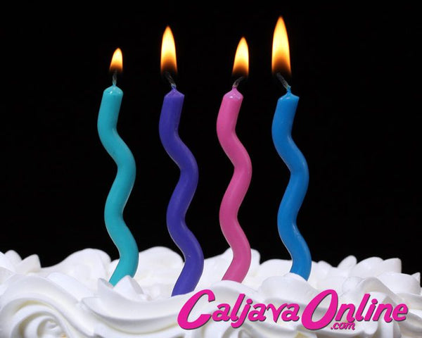 Cool Color Wavy Candles