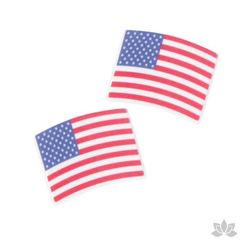 American Flag Rings Cupcake Toppers