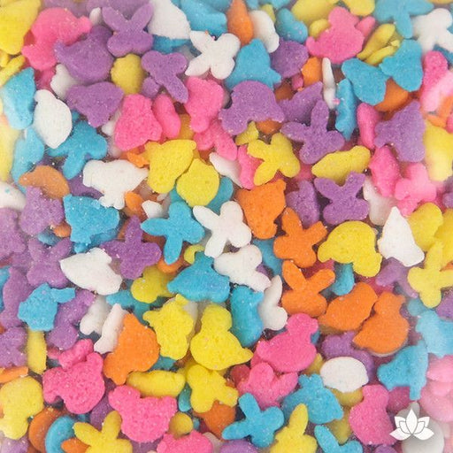 Give your cupcake it's finishing touch with these Bunny, Chick, & Duck Sprinkles.  Perfect for Easter celebrations, these fun colorful sprinkles are great on Easter cupcakes, Easter cakes, cookies and brownies.  Easily decorate your creation.  Just sprinkle all over and enjoy!