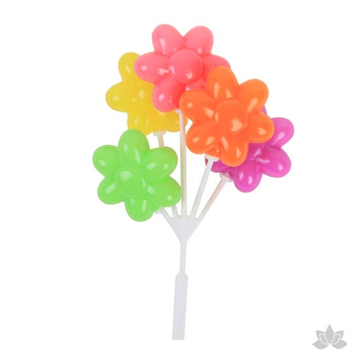 Flower shaped balloons perfect for birthday parties and baby showers