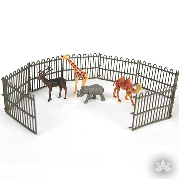 Vintage Animals with Fence