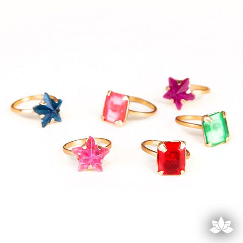Star and Prism Gold Rings