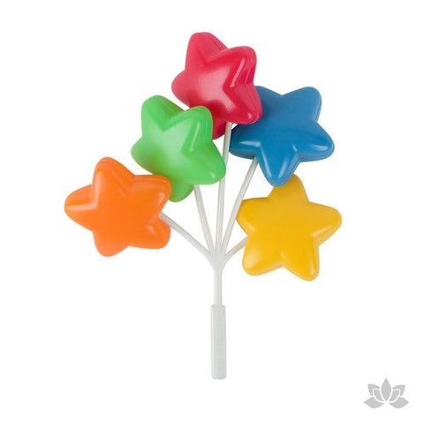 Multicolored Star Balloon Picks