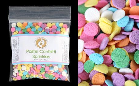 Give your cupcake it's finishing touch with these Pastel Confetti Sprinkles.  Perfect for any celebration, these fun colorful sprinkles are great on cupcak