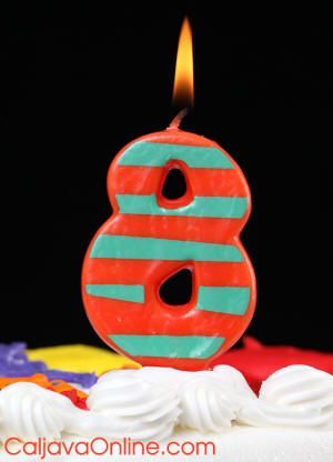 Crazy Striped Candles #8
