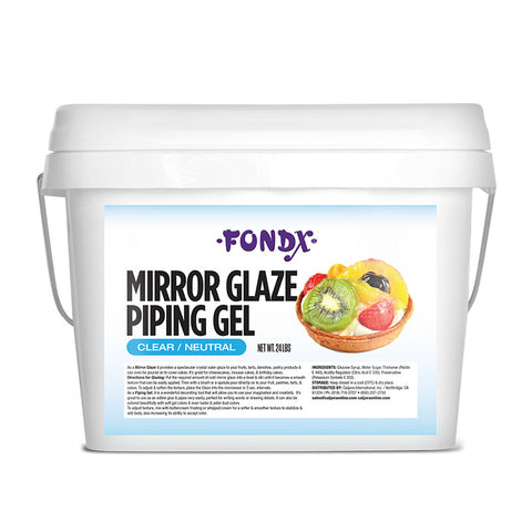 FondX Mirror Glaze Piping Gel 24 lb - Clear