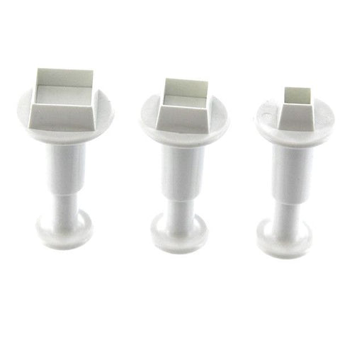 Square Plunger Cutters - Set of 3