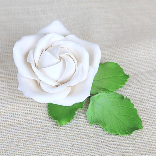Gum Paste Sugar Flower Rose cake topper great for cake decorating your own wedding cakes and birthday cakes.