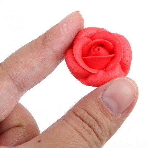 Rose Royal Icing Decorations - Red