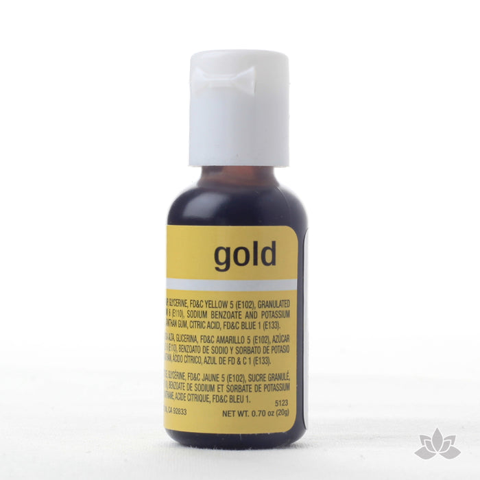 Gold Food Color Soft Gel great for adding color to your icings and other edible treats.