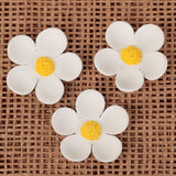 Unwired 5 Petal Blossom - White w/Yellow