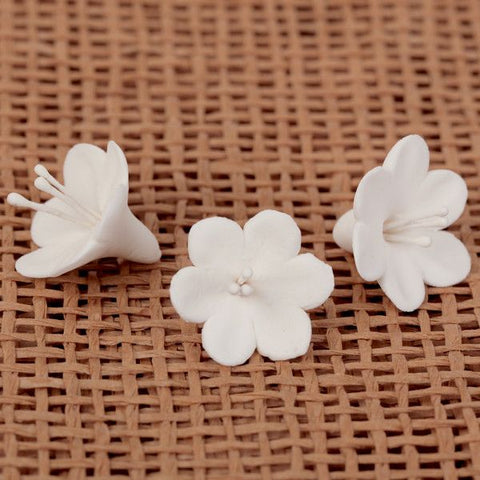 Unwired 6 Petal Blossom Filler - White
