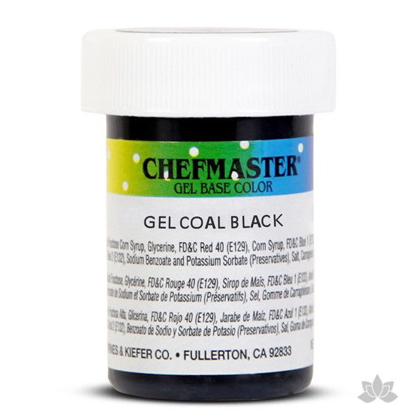 Caljava - Chefmaster gel base food color concentrate for baking and cooking - Coal Black