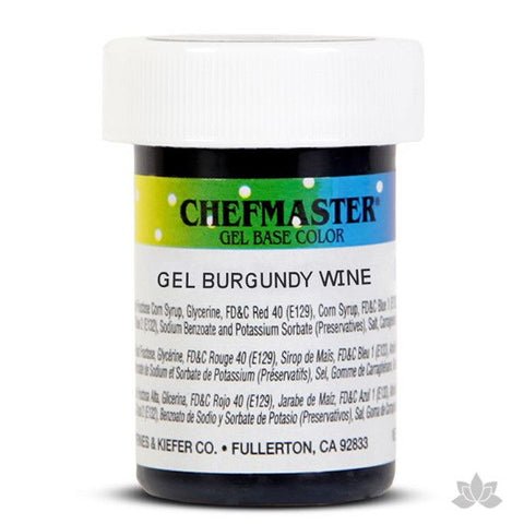 Chefmaster Gel Base Color - Burgundy Wine