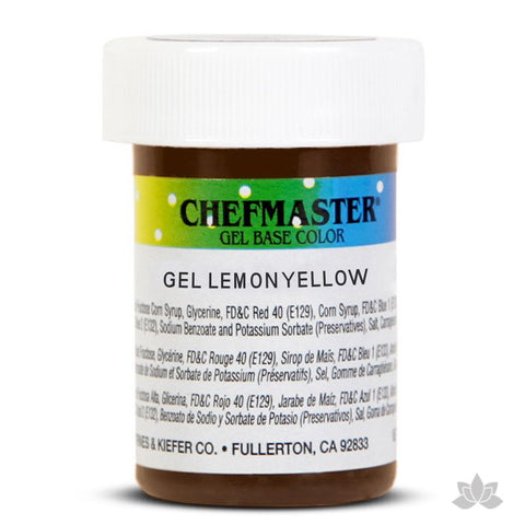 Caljava - Chefmaster gel base food color concentrate for baking and cooking in Lemon Yellow