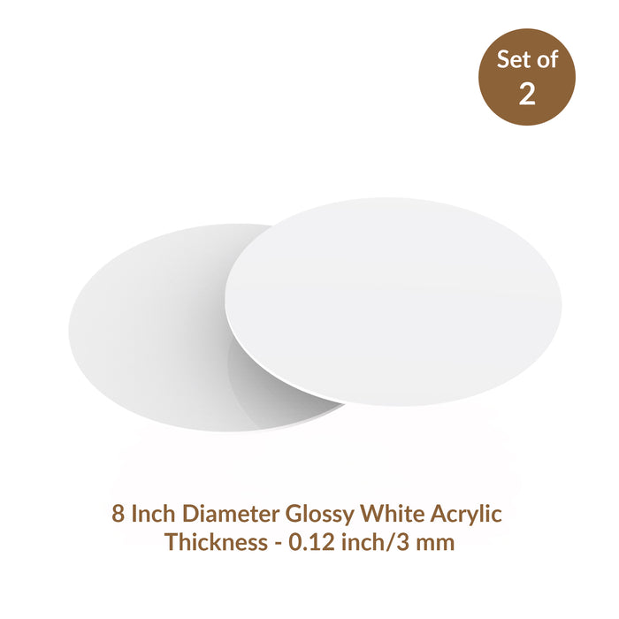 Acrylic Round Discs, great icing tool to achieve sharp edges of your buttercream icing when frosting your cake.   The perfect tool for cake decorating your own frosting cakes.