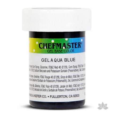 Caljava - Chefmaster gel base food color concentrate for baking and cooking in Aqua Blue