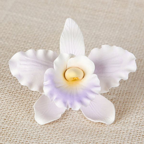 Orchid sugar flower handmade gum paste cake topper great for cake decorating your own cake.  Edible cake decoration.