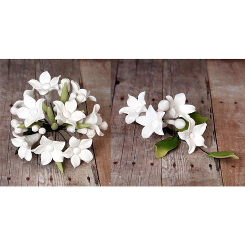 White Stephanotis Filler Set cake topper great for cake decorating your own cakes. |  CaljavaOnline.com