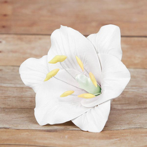 Medium Open Lilies - White