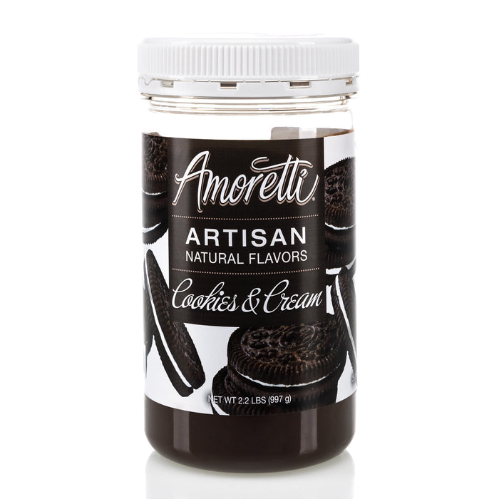 Natural Cookies & Cream Artisan Flavor by Amoretti