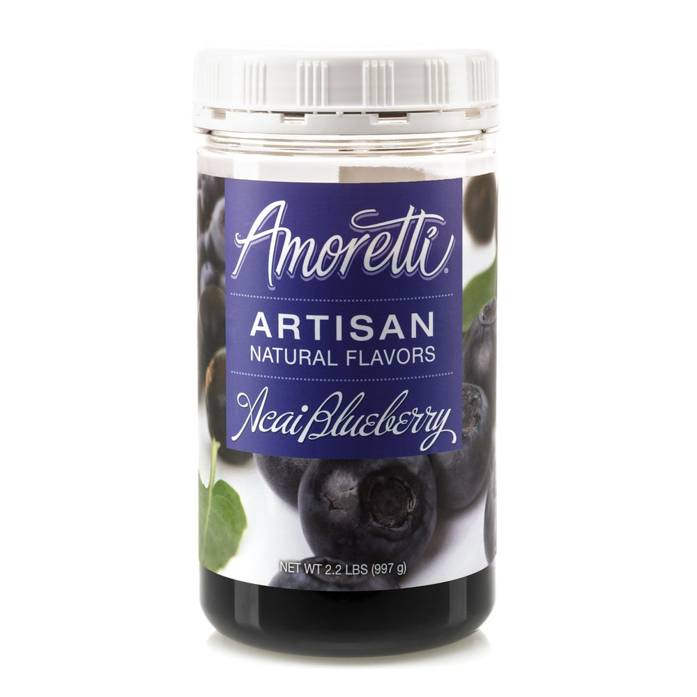 Natural Acai Blueberry Artisan Flavor by Amoretti