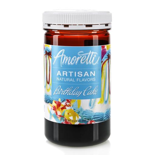 Natural Birthday Cake Artisan Flavor by Amoretti