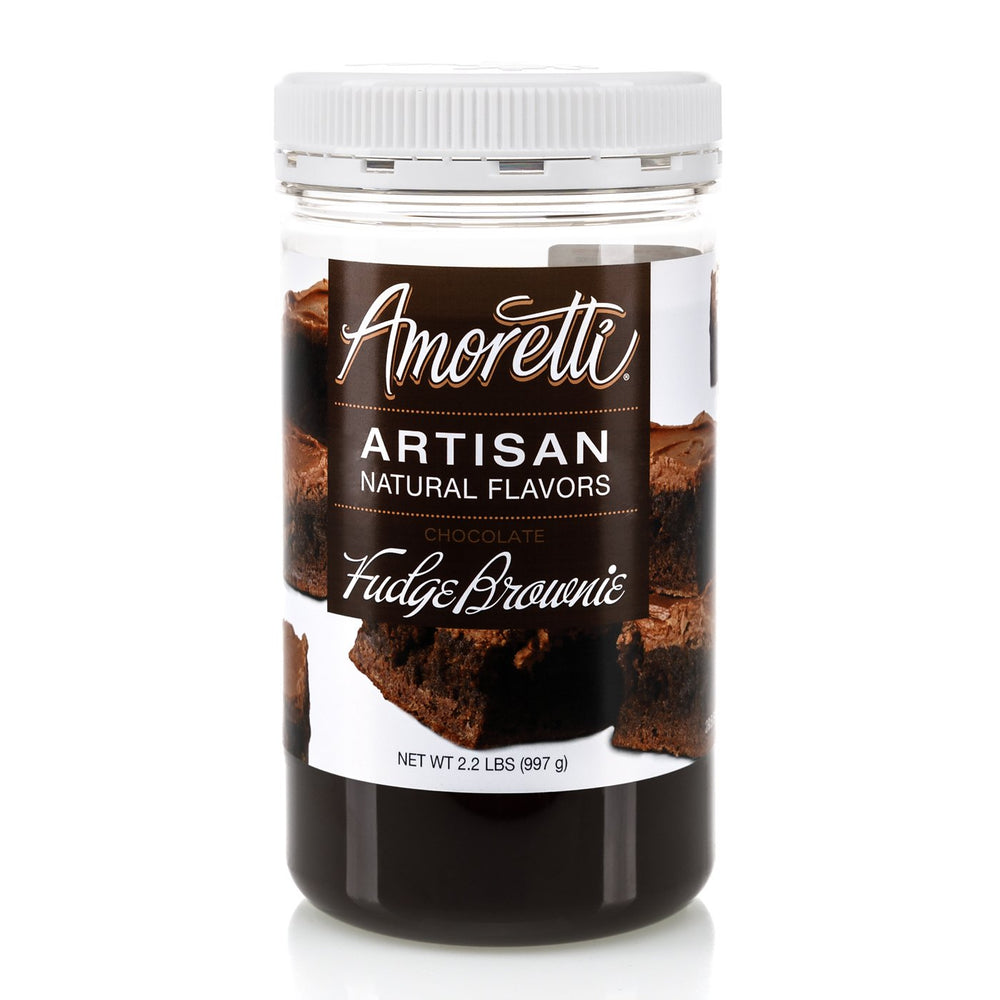 Natural Chocolate Fudge Brownie Artisan Flavor by Amoretti